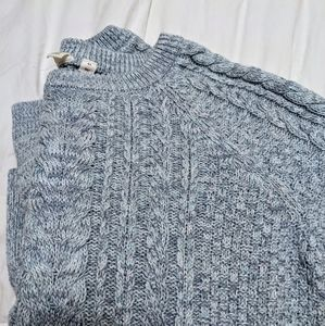 GAP Blue and White Cable Knit Sweater